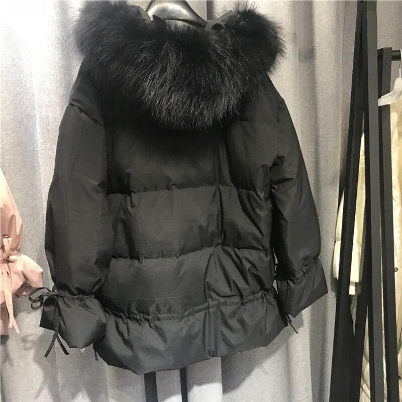 Fourrure Outwear De pink Parkas D'hiver Manteau Femmes Duvet black Raccon Le Col Neige Beige Chaud Slim Canard Blanc Capuchon Fitaylor Veste À green Réel Bas Vers Femme L3c5RqA4j