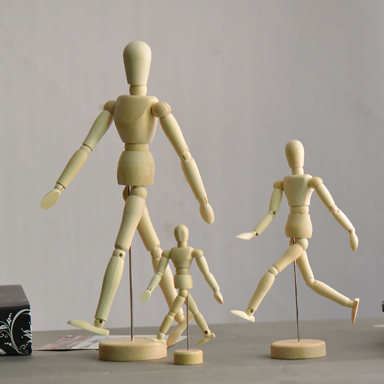 Joints bump Figurine Doll 14 full can movable Wood furnishing articles Crafts Gifts Desk Decor DIY