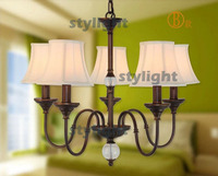 5 Heads American Country Style CRYSTAL BALL Pendant Lamp Dining Room Living Room Bedroom Bar Light