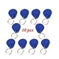 10 pcs Keyfobs 125 KHz RFID Controle de Acesso de Proximidade ID Token Tag Chave Keyfobs Azul da Cor para a Porta de Controle de Acesso sistema F1661A