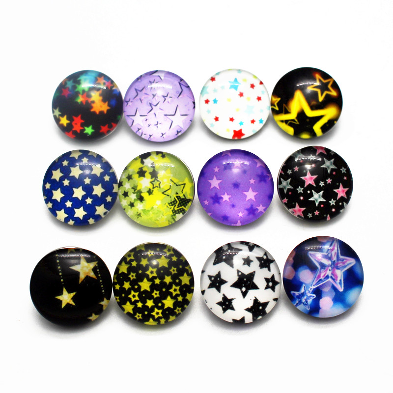 Hot Selling Mix Fashion Star Pattern Snap Buttons 18mm Snaps Charms Fit Snap DIY Accessory Jewlery 20pcs/lot