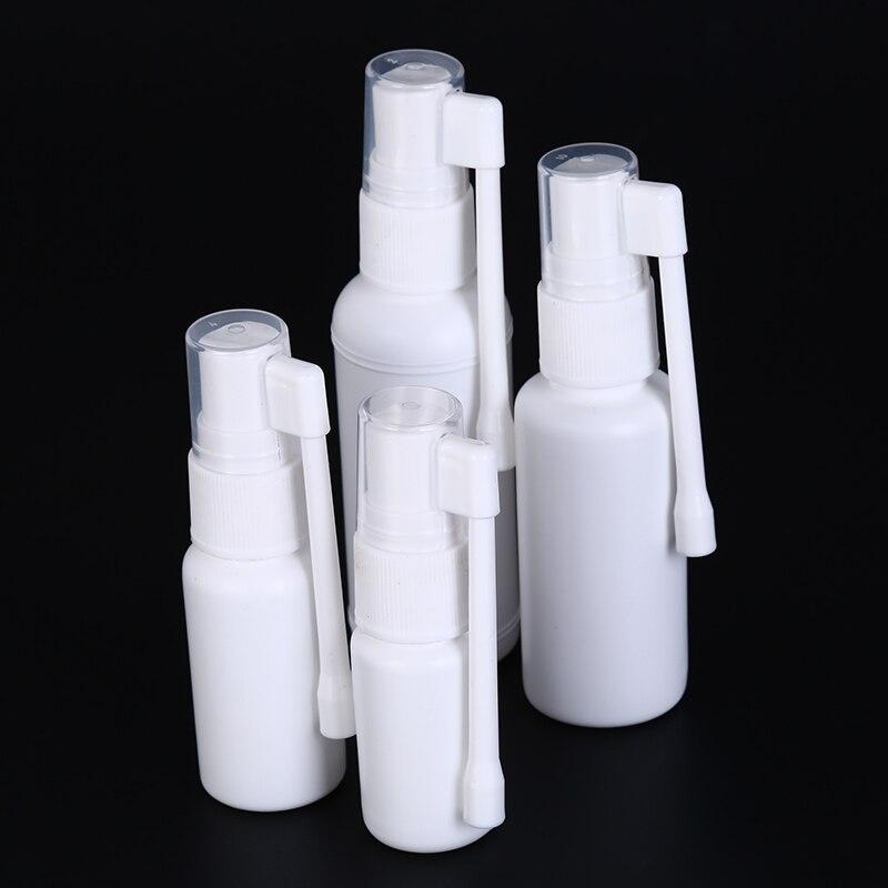 1pcs White Bottle Air Flight Travel Tools 10ml 20ml 30ml 50ml Empty Plastic Perfume Makeup Atomizer Spray Bottle