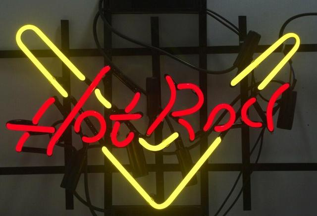 Custom Made Hot Rodvvv Glass Neon Light Sign Beer Bar