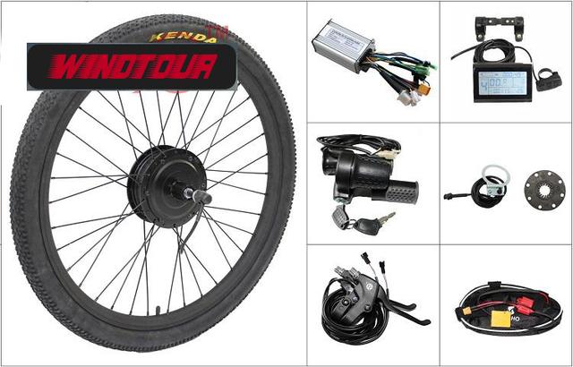 36 V 250 W, 350 W, 500 W e-bike Kits de Conversión de BRICOLAJE