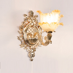 Image 2 - led Wall Light Gold Lamps Glass Wall Lamp Vintage Bathroom Light Fixtures Wall Sconces Bedroom Lamps Bedside Lighting