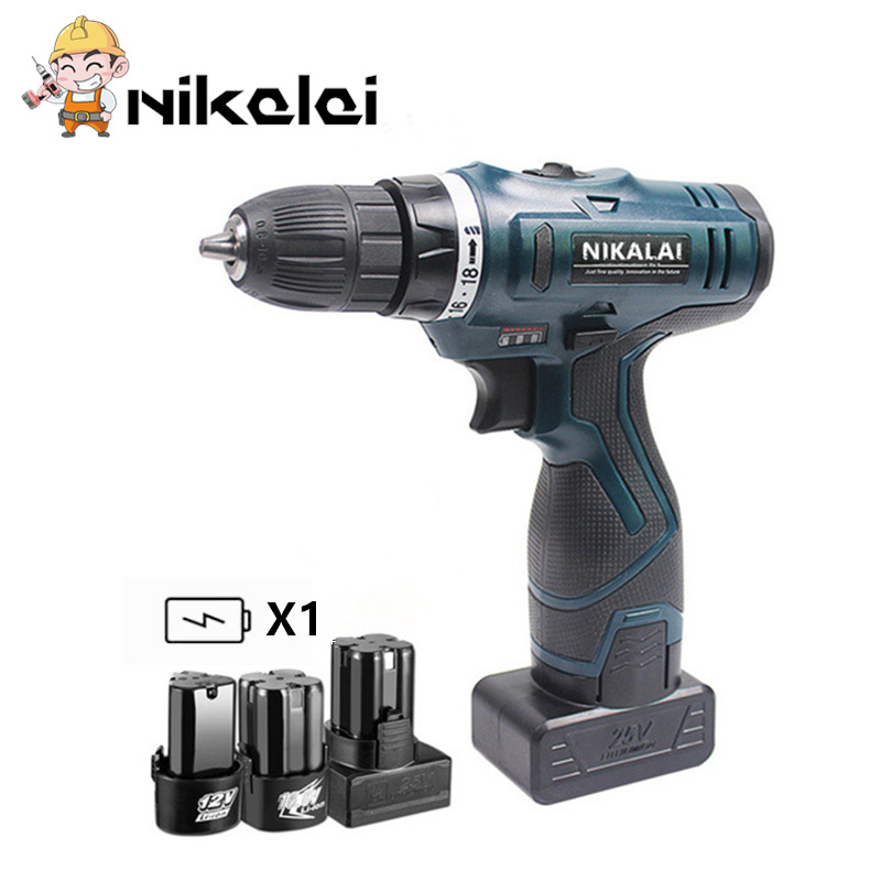 12v 16 8v 25v Two speed Charging cordless drill electric screwdriver torque hand drill driver gun
