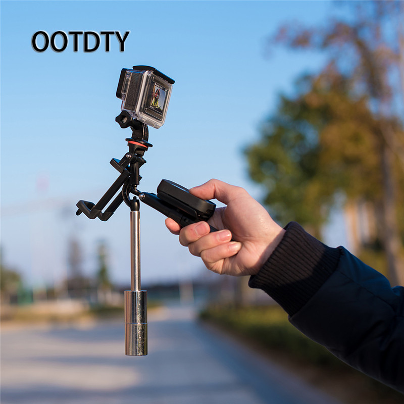 OOTDTY Camera Tripod Hand-held Stabilizer Camera Phone Steadicam For GoPro Hero 3 4 5 for Phone
