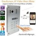 Touch screen Global wireless video door phone WIFI doorbell intercom digital camera smart phone control night vision wifi