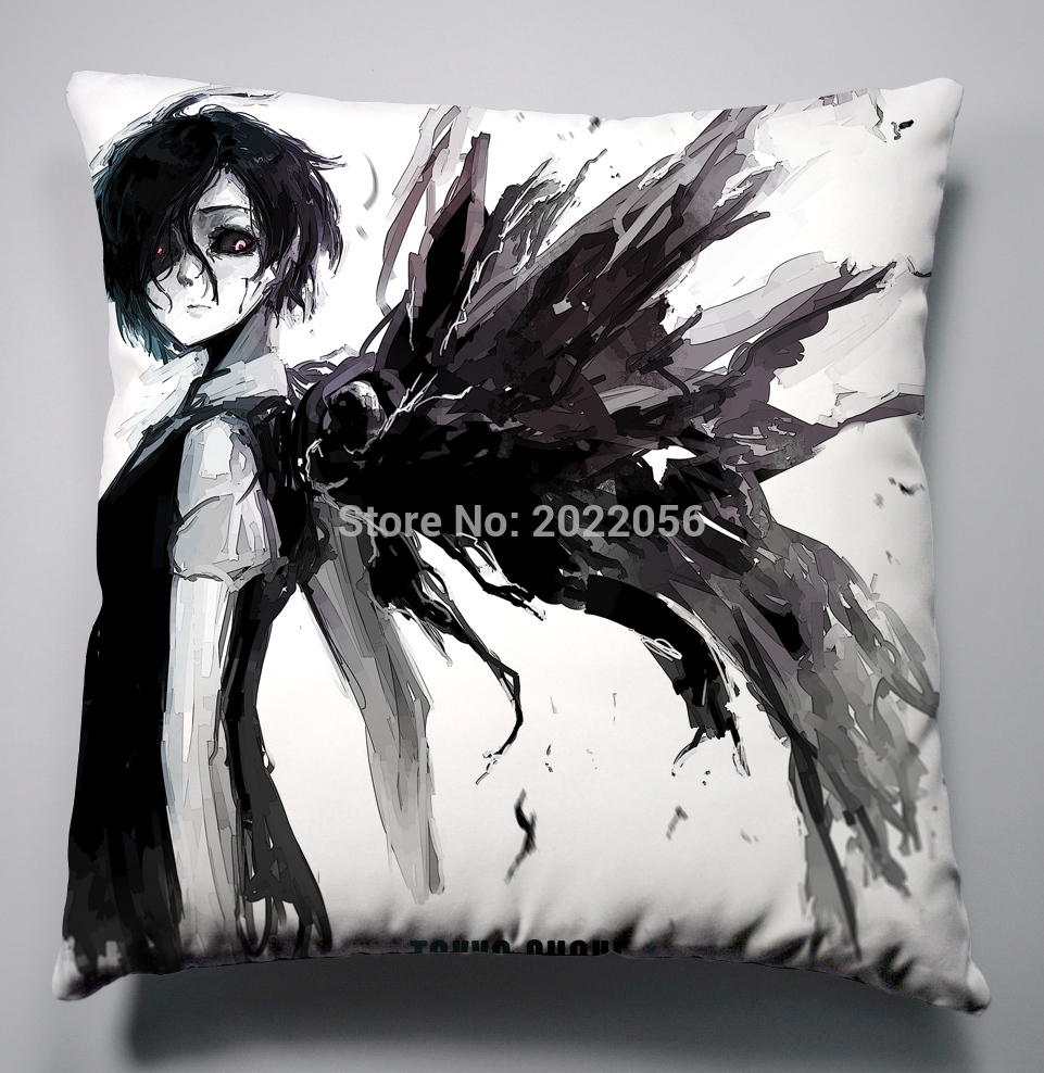 Anime Manga Tokyo Ghoul Pillow 40x40cm Pillow Case Cover Seat Bedding Cushion 003