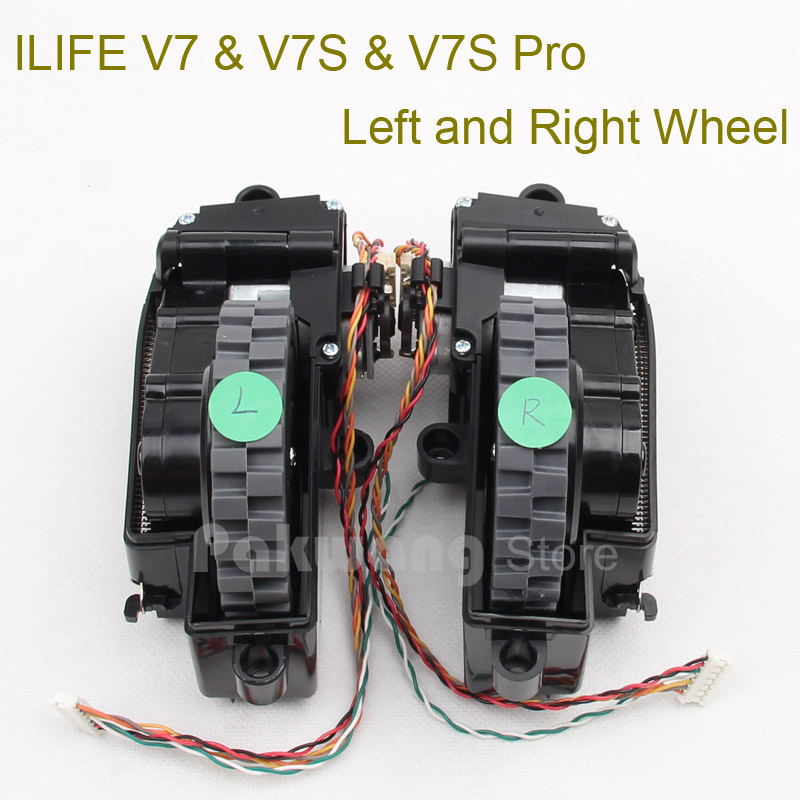Original ILIFE V7S V7 Wheels, including V7 V7S right wheel and left wheel 1 pc Vacuum Cleaner Parts supply from factory original d5501 virtual boundary 1 pc vacuum cleaner invisible wall supply from factory