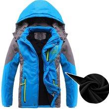 Inverno engrossar velo quente acolchoado criança casaco duplo-deck à prova de vento meninos meninas jaquetas crianças outerwear para 3-14 anos de idade