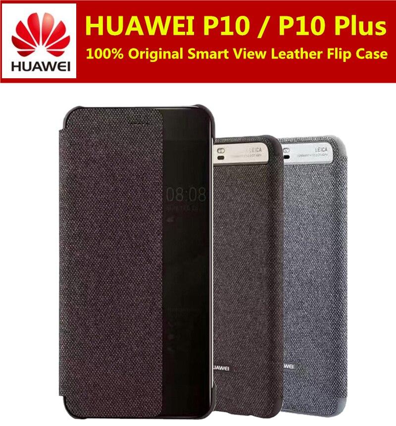 imágenes para Huawei Caso P10 100% Original Huawei Empresa Smart View Tirón de La Cubierta para Huawei P10 Más Casos de Cuero Del Teléfono coque 5.1/5.5 pulgadas