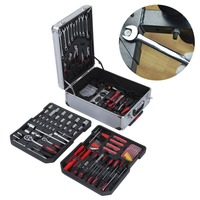 616 Pcs High Precision Aluminium Alloy Case Box Set Household Multi Repair Tool Pliers Screwdriver With Wheels Excellent quality