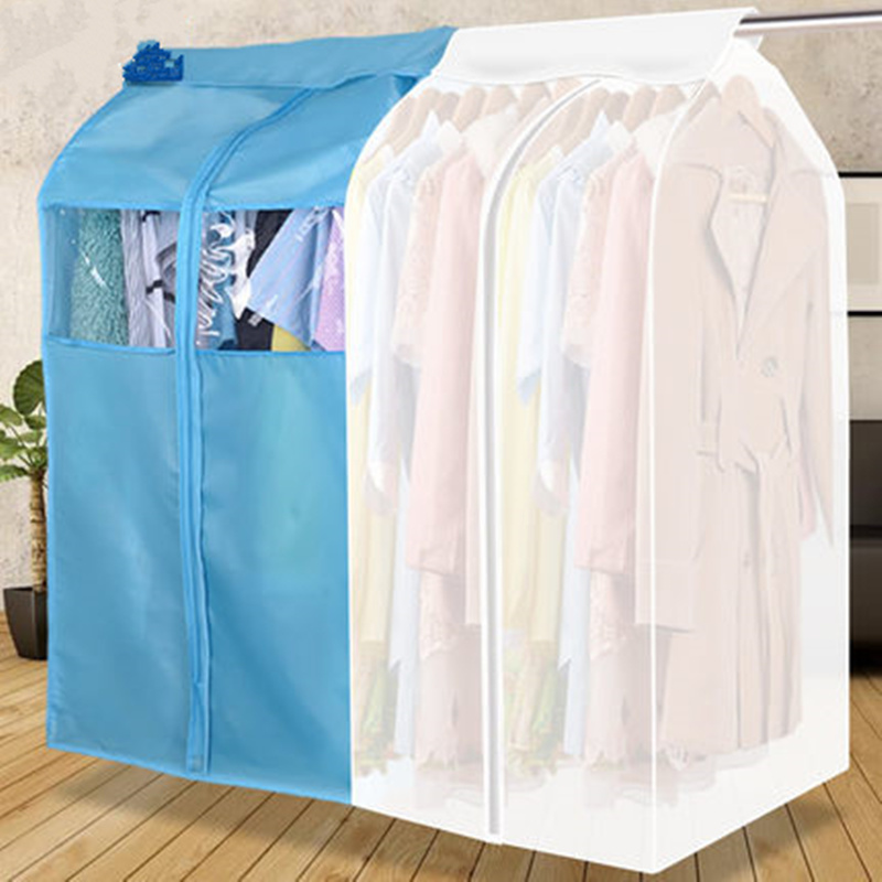 Image 3 - High quality hanging clothes dust cover cases suit bag cover case Dustproof Storage Bag , three dimensional,Free shipping.Clothing Covers   -