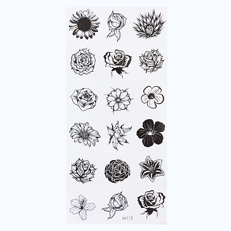 Sunflower Temporary Body Tattoo Daisy Flower Tattoos Can Be Used For Shoulder Thigh Wrist Tattoo