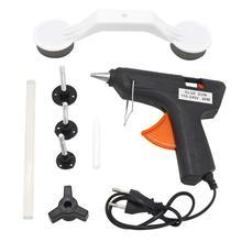Кузова Paintless Dent Repair Tool Kit Съемник + Тяговая вкладки + клей пистолет автомобилей град удаления ручной инструмент