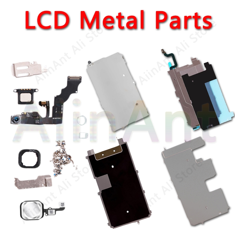 For iPhone 5 5s 5c 6 6s Plus LCD Display Screen Metal Small Parts Protect Cover Ear Speaker Front Camera Home Button Flex