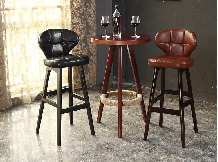 Solid Wood Bar Chair, Bar Chair. European Take Back Chair High Chairs.