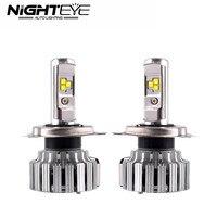 Nighteye 80W 9000LM H4 HB2 9003 With Cree LED Headlight Kit Fog Lamps Light Bulbs 6000K
