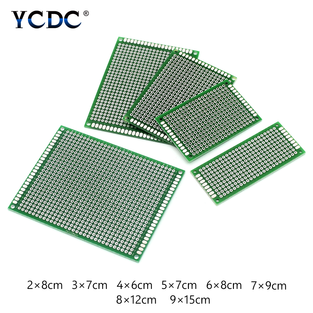10pieces Durable Dual Sides Pcb Breadboard Universal Printed Circuit Board Strip Prototype For Electronic Arduino DIY Projects image