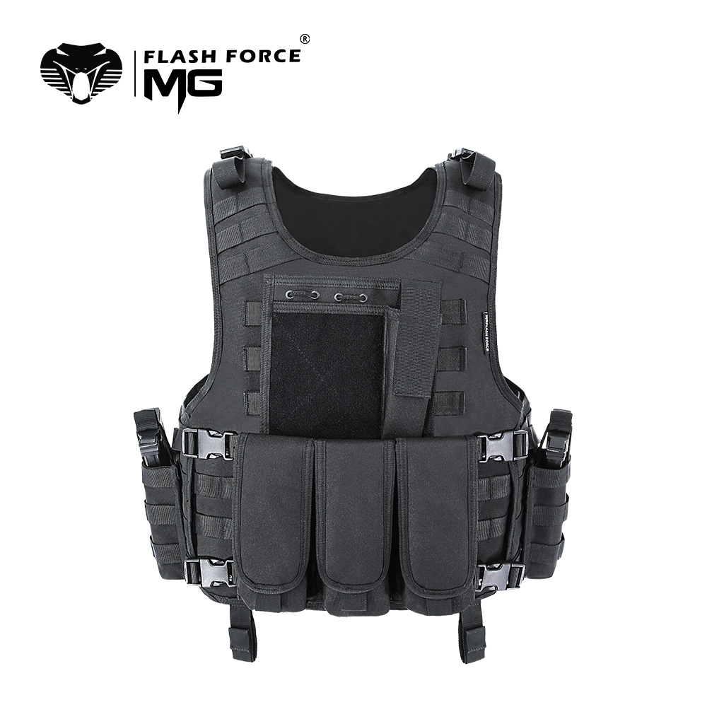MGFLASHFORCE Molle Airsoft Vest Tactical Vest Plate Carrier Swat Fishing Hunting Vest Military Army Armor Police Vest handbag