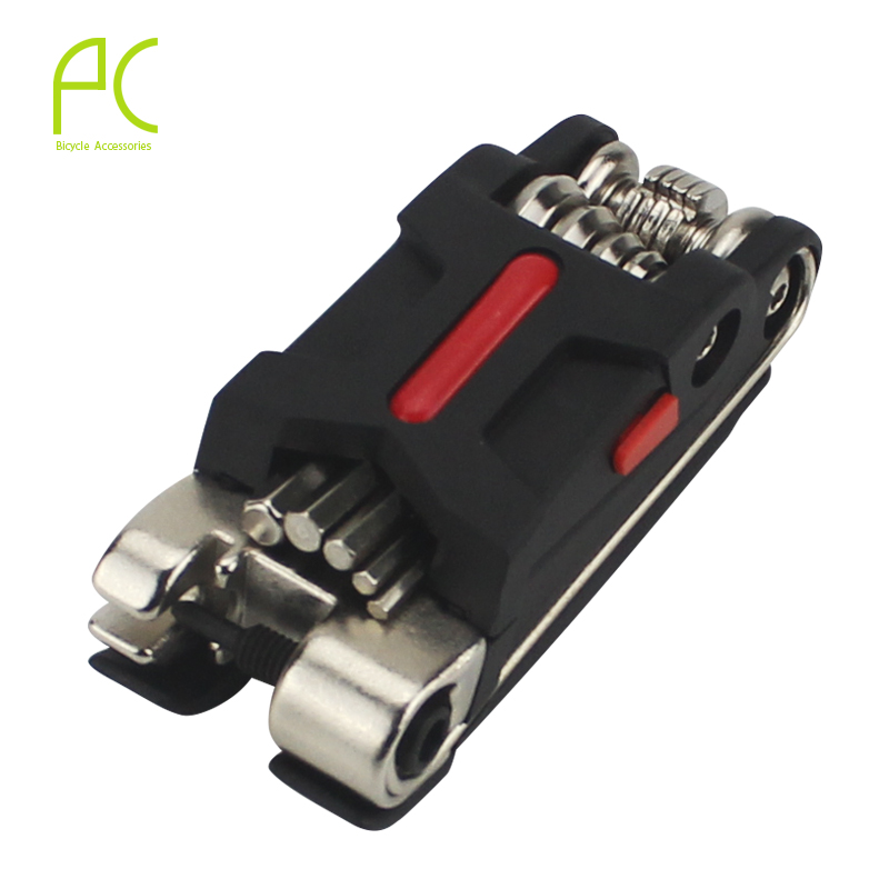 PCycling Bicycle Multi Repair Tool Set Kit Hexagon Screwdriver Wrench Set Chain Rivet Mountain 18 In 1 Bike Cycle Tool Sets