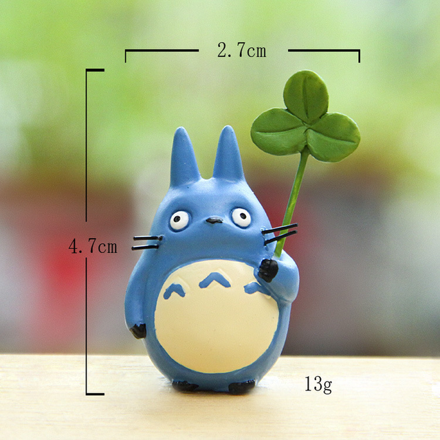 Resin Hayao Miyazaki's Totoro Model Figurines Fairy Flower Pot Ornament Miniatures Moss Gnome Decoration Crafts Gifts Home 5