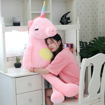 Doux doux peluche peluche licorne jouet géant câlin unicornio coussin arc-en-ciel cheval dormir câlin jouets pour enfants cadeaux d'anniversaire
