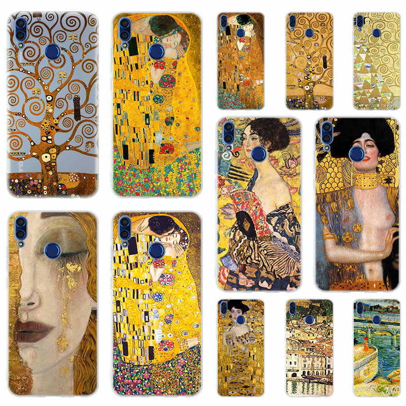 Gustav Klimt art Silicone Phone Case Cover For Huawei Honor 9 10 Lite 6X 7X 8X Max 7A 8A 8C 20 PLAY 9x Hot
