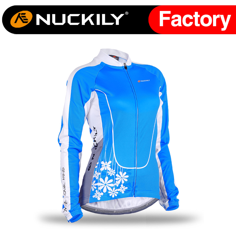ФОТО Nuckily Women's Winter Cycling Jacket Wholesale Cycling Fleece Thermal Winter Jersey  GE004