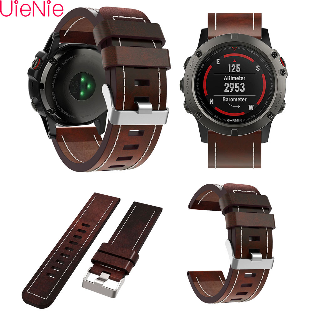 Luxury Leather Two-Color Replacement Wristband for Garmin Fenix 5X plus Professional Factory Price Watch Strap watchband