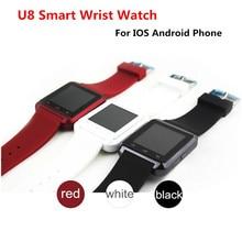 DHL Freeshipping 10 Teile/los Bluetooth Smart-armbanduhr U8 Smartwatch Für IPhone IOS Android Handys Gute wie G & T 08 DZ09 Für Sony
