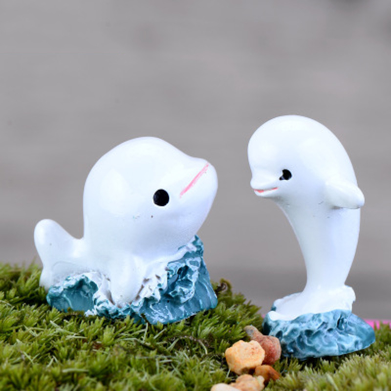 ZOCDOU Cute Dolphin Porpoise Delphis Small Statue Home Decoration Accessories Miniature Children Toys Decor Crafts Figurines ...