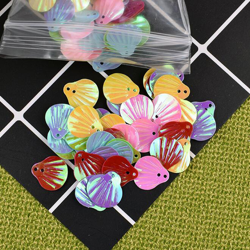 Blocks 1set Artificial Colorful Bling Shell Kids Adult Diy Assembling Blocks Wind Bell Clay Material Accessories House Decoration Tools