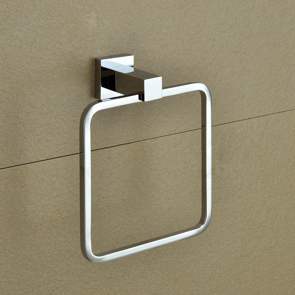 ring master picture  more detailed picture about modern bathroom  - modern bathroom hardware accessory wall mounted chrome finish square towelring solid brass hand towel