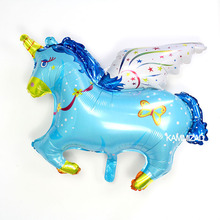 KAMMIZAD Pegasus Balloon Party 2 Colors Childrens Toy Aluminium Foil Wedding Brithday Decoration Horse