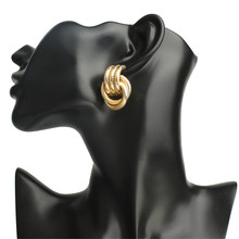 ECODAY Fashion Metal Statement Earrings Geometric Stud for Women Jewelry Earings Oorbellen Pendientes Brincos