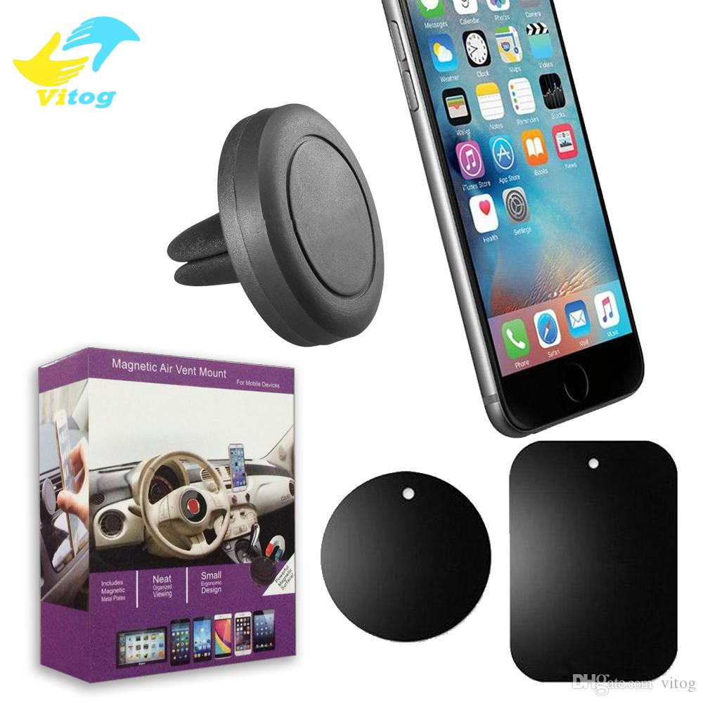 Car Mount Phone Holder Air Vent Magnetic Cell Phone Holder One Step Mounting ,Reinforced Magnet Easier Safer Driving