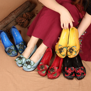 Image 5 - GKTINOO Spring Summer Handmade Genuine Leather Ballet Flats Shoes For Women Super Soft Breathable Female Shoes Flat With Flowers