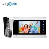 JeaTone New 7 inch Video Doorbell Monitor Intercom With 1200TVL Outdoor Camera IP65 Door Phone Intercom System