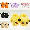 Pikachu Pokemon Ir Para Adultos Zapatillas de Algodón Casa Zapatillas de Felpa de Invierno Cálido Zapatos Zapatillas de Interior de Interior de la Navidad de Halloween