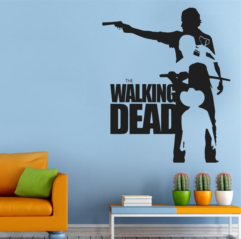 Hot Walking Dead Wall Decal Removable Home Decor Sticker Stickers Vinyl  PVC GW-32
