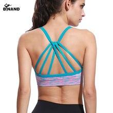 680a3bed0 BINAND Mulheres Tingido Strap Backless Sutiã Sutiã Esportivo Yoga Fitness  Formação Camisas Running Shakeproof Lingerie Sem