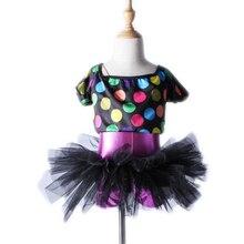 Children's Female Printing Three-piece Ballet Skirt Suit Uniforms Stage Performances Dance Costumes for Girls Girls Ballet Tutu