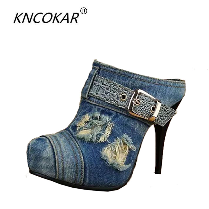 New high-heeled shoes waterproof Taiwan round head hollow out shoes heel strap cowboy fashion sexy sandals, slippers fashion big flowers pink bride high heeled shoes waterproof taiwan fine with hollow wrist dress shoes wedding shoes sandals