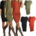 Новый 2016 Летнее Платье Сексуальная Повседневная Пакет Хип Bodycon Платье Асимметричные Платья Женщин Короткие Sleeeve Черное Платье Свадебные Платья