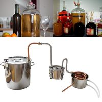 10L 18L New DIY Home Distiller Alambic Moonshine Alcohol Still Stainless Copper Water Wine Essential Oil Brewing Kit