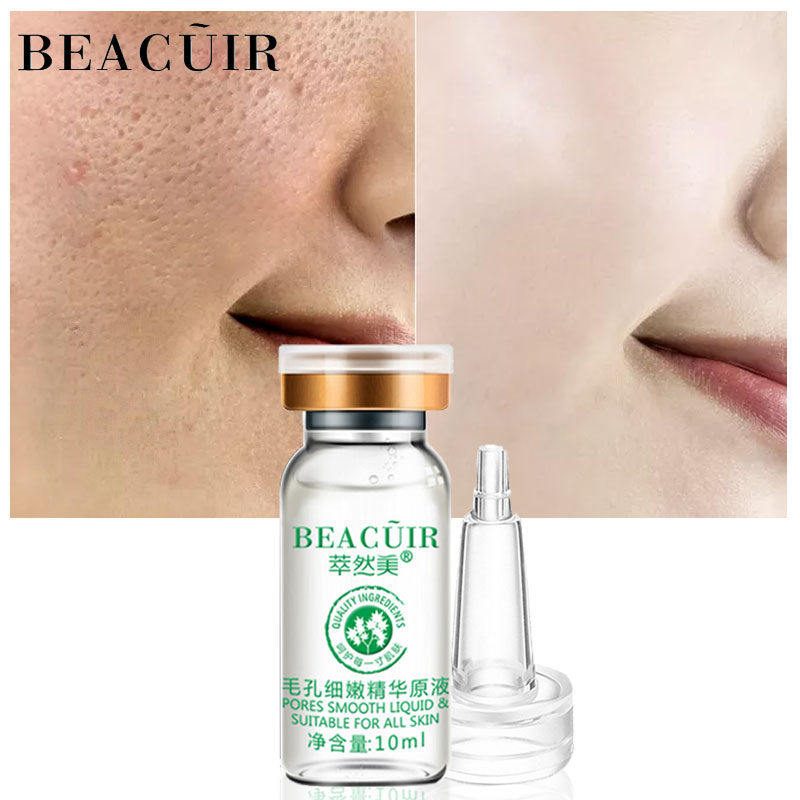 BEACUIR Face Serum Hyaluronic Acid Shrink Pores Essence liquid Moisturize Whitening Facial Care Anti-Aging Anti-Wrinkle Brighten holographic belt purse