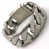 BC0072 161g 25MM Dull Polish Cool Bracelet 316L Stainless Steel USA Biker Style Top Quality Hot Valentine's Day Gift