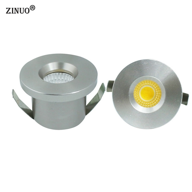 ZINUO 5pcs Lot Mini COB 3W LED Spotlights Cabinet Spot light Lamps